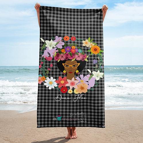 Black 'Doña Flor' towel