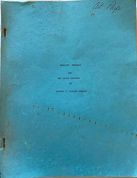 Dozier School Reality Therapy Manual 198