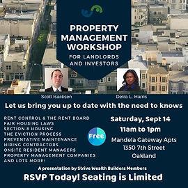 Property Management Workshop Sept 14 201