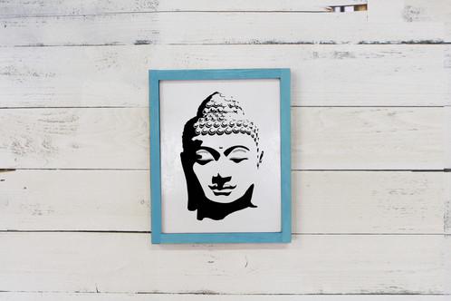 Buddha Framed Reclaimed Wood Wall Art - 11\