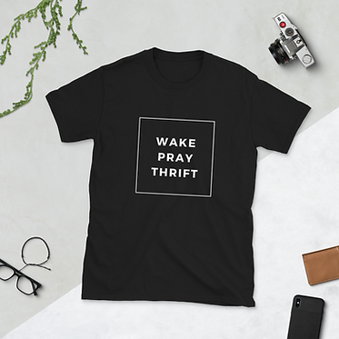 Wake Pray Thrift Box T-Shirt
