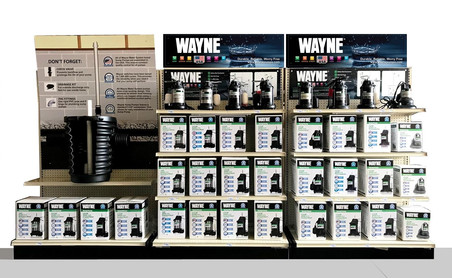 12 ft Wayne Pump store display with completed Signage and displays