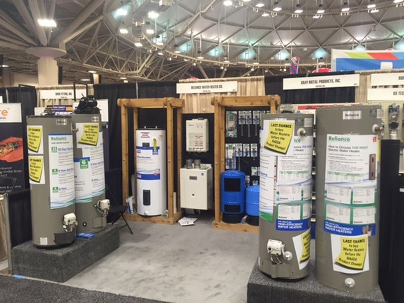Reliance water heater display. We create informative and interactive displays for every distributor show we participate in.