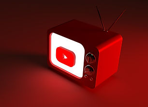 3d-rendering-tv-with-glowing-youtube-log
