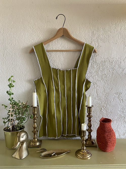 LARGE Chartreuse Tank