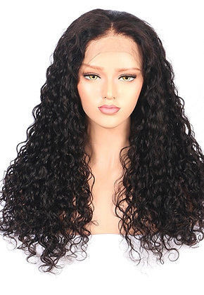 NATURAL CURLY LACE FRONT WIG