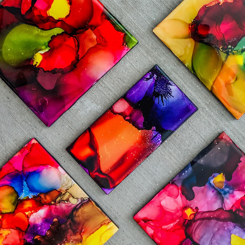 Alcohol Ink Painting with Malou