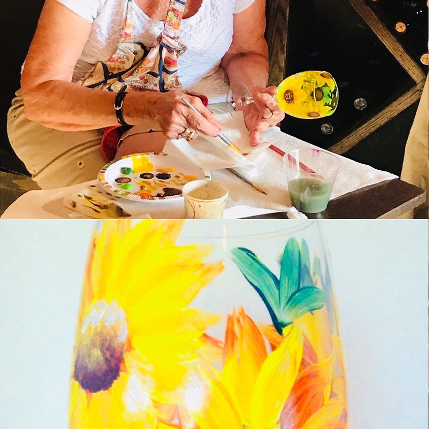 Glass Painting - In Person - Summer Sunflower