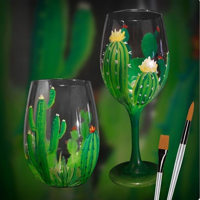 Wine Glass Painting Tutorial