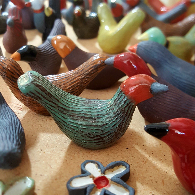 Ceramic Birds - Available at The Muse Gallery
