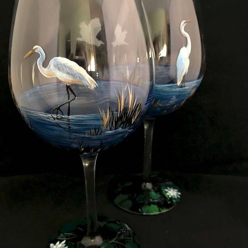Wine Glass Painting with Loretta