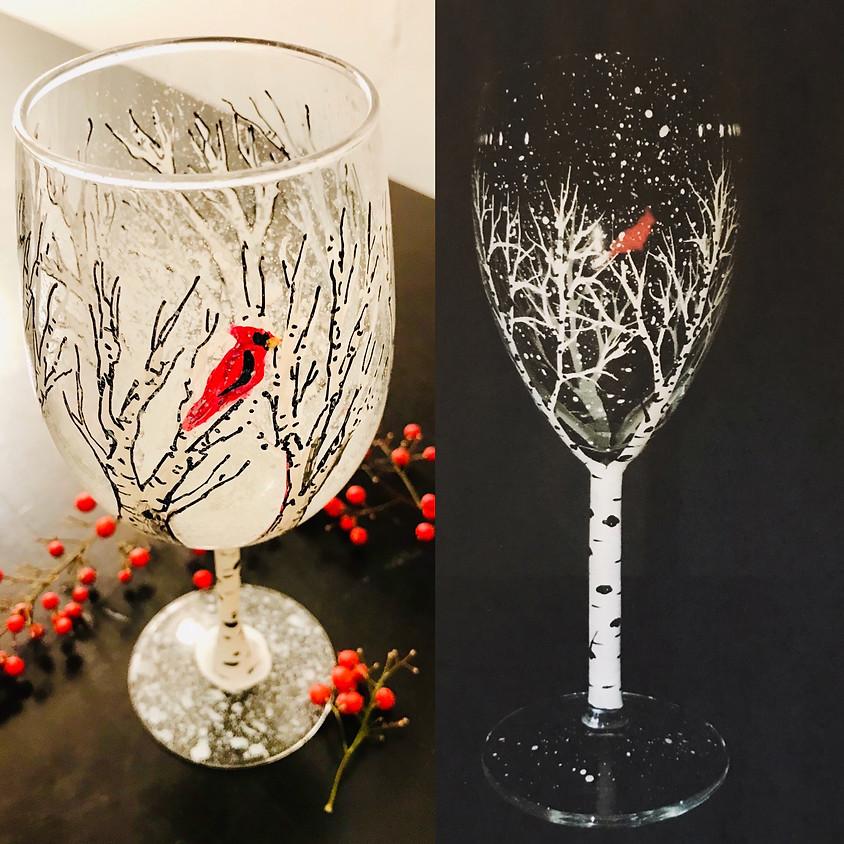 Wine Glass Painting -