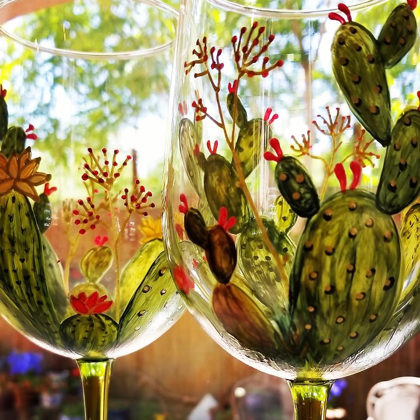 Wine Glass Painting with Loretta Meyer Furrey