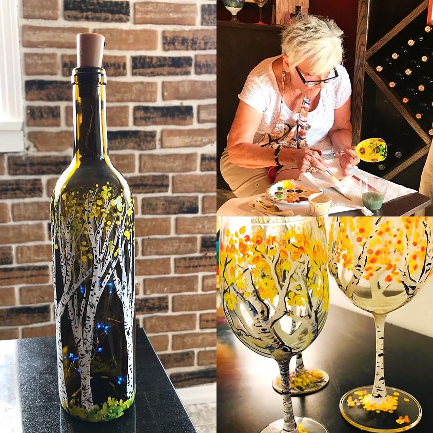 Glass Painting - In Person - Aspen Bottle Light