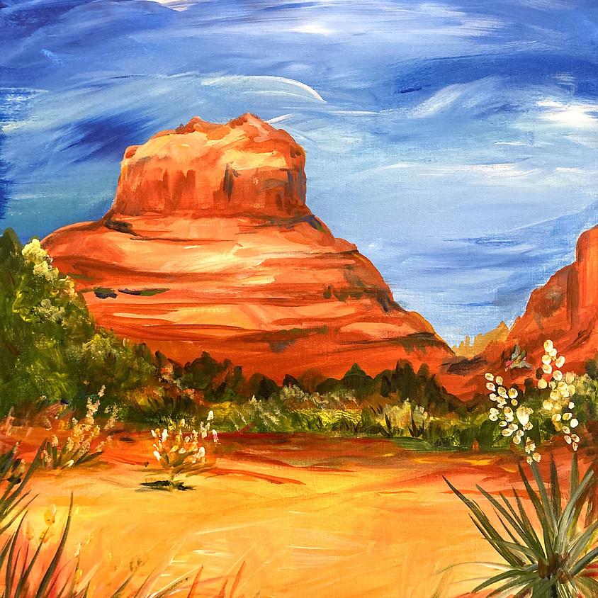 Canvas Paint Party - Bell Rock Landscape