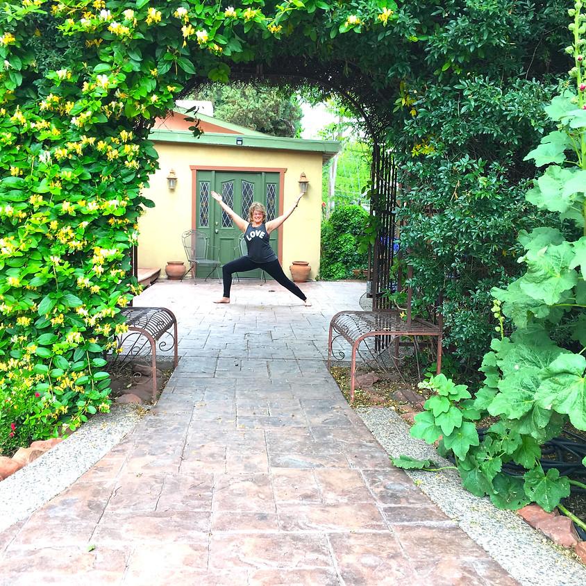 YOGA in the Secret Garden with Roxanne!