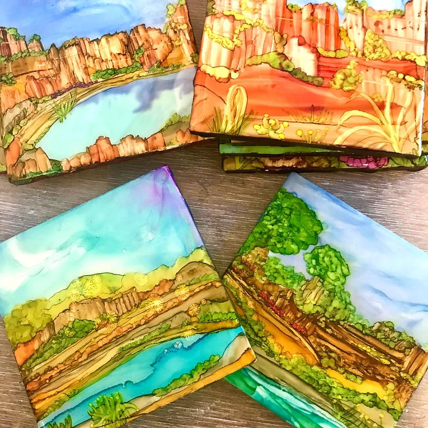 Alcohol Ink Landscapes 11-23-19