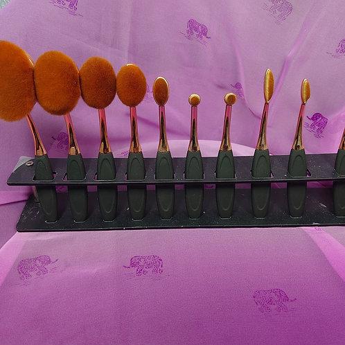 10 piece contouring brush set