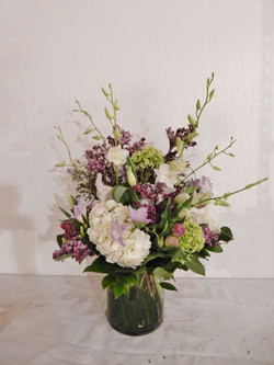 Purples and Greens Floral