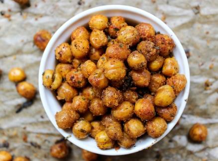Altitudian Recipes - Roasted Chickpeas & Prawn on Bread