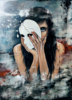 Exposed, oil painting