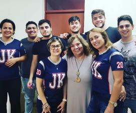 Visita de Lúcia e queridos alunos