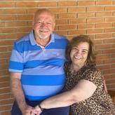Pastor Aguiar e Lúcia no Manaim