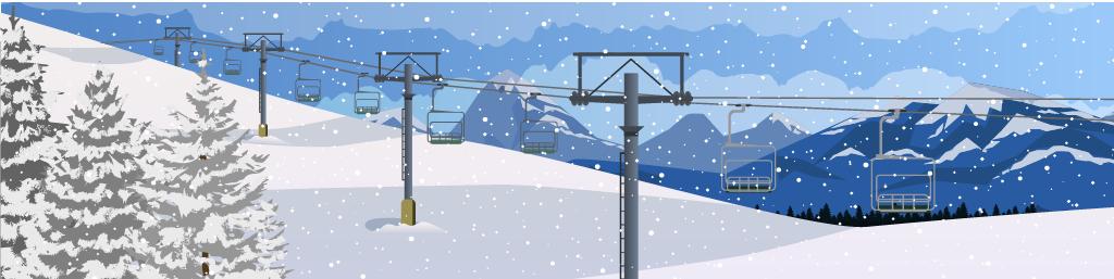 Ski Hill in the Rockies