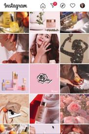 Lemon and beaker Instagram grid design.m