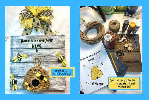 craftathon-bee-craft-beehive-diy-art-gra