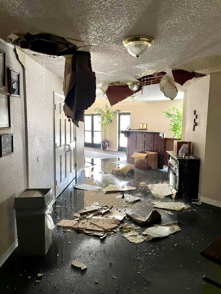 Damage from burst pipes