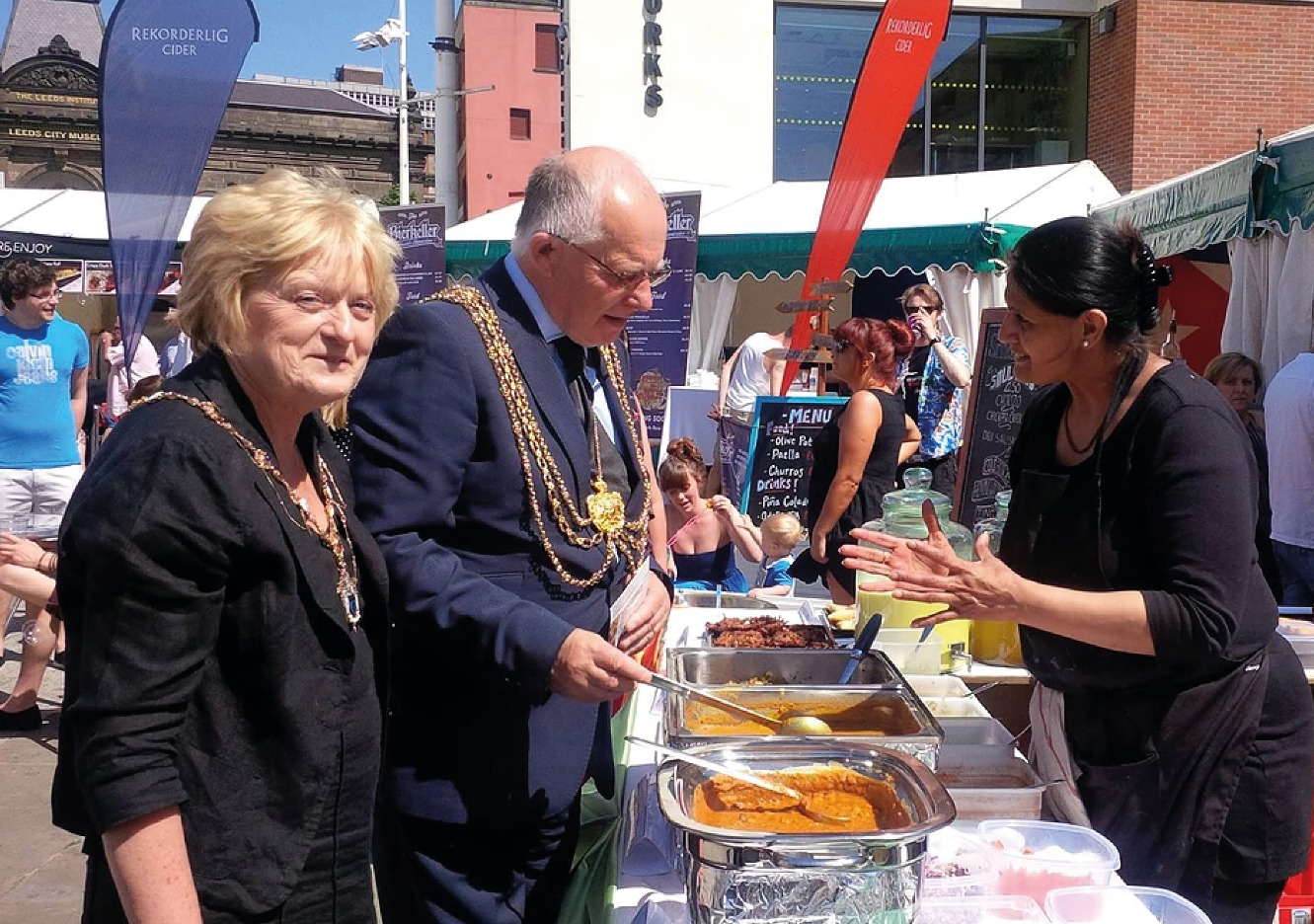 Chef Rekha meets the Mayor of Leeds
