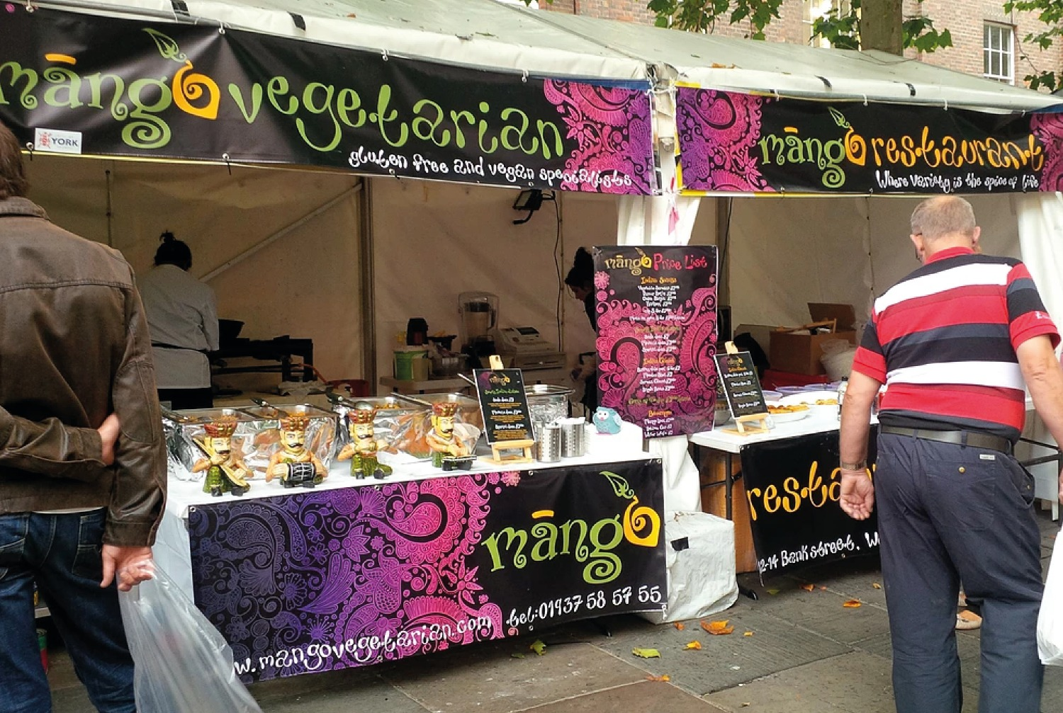 Food festival stall