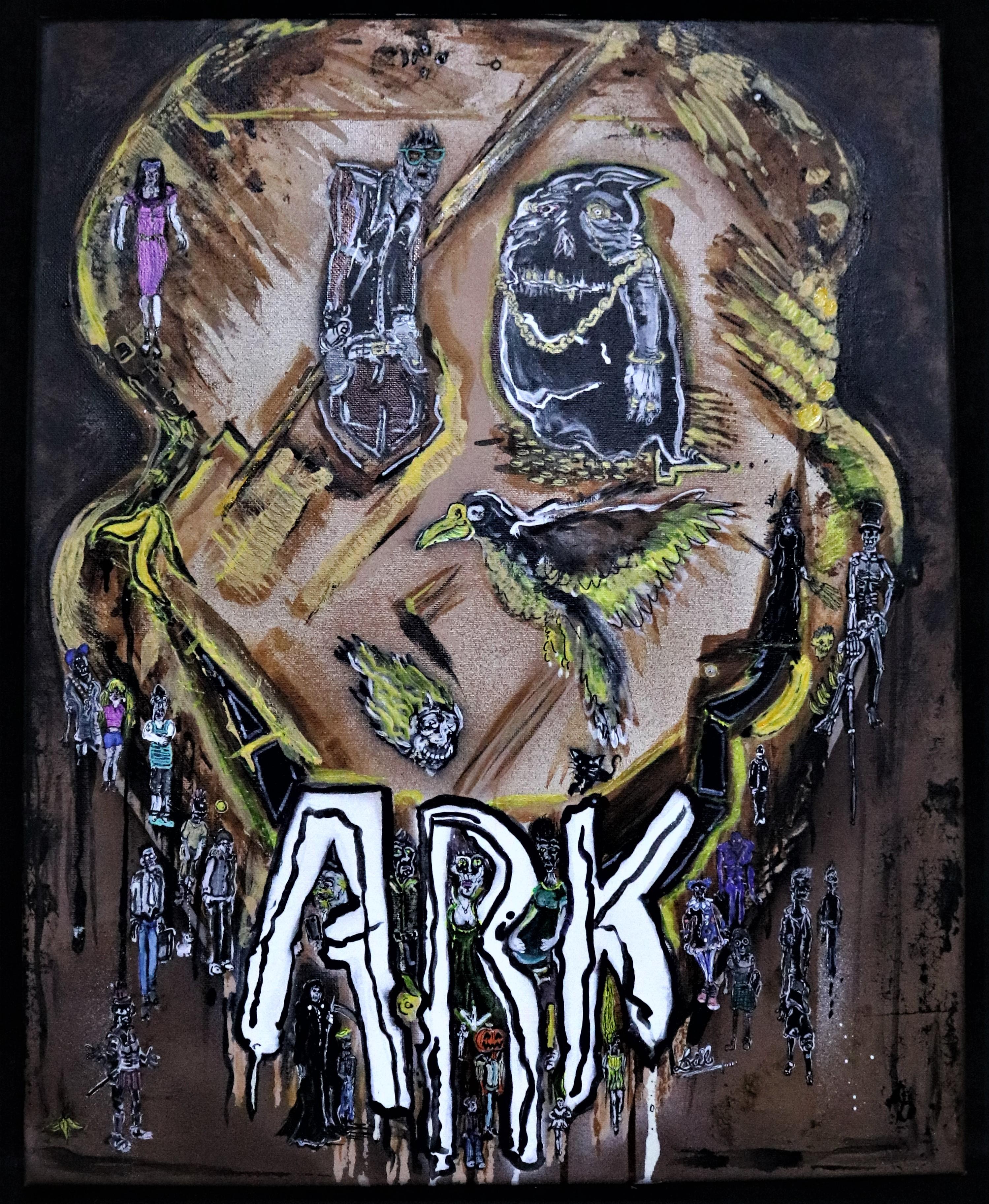 ARK, 16 par 20, acrylique, toile