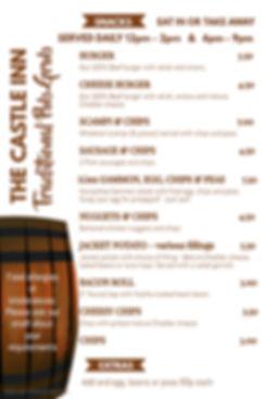 Copy of Bar Food Snacks Menu Template -