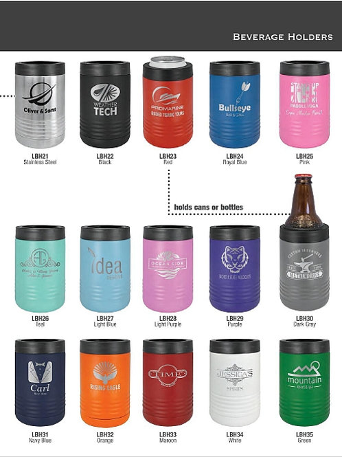 Insulated Beverage Holders for Cans & Bottles
