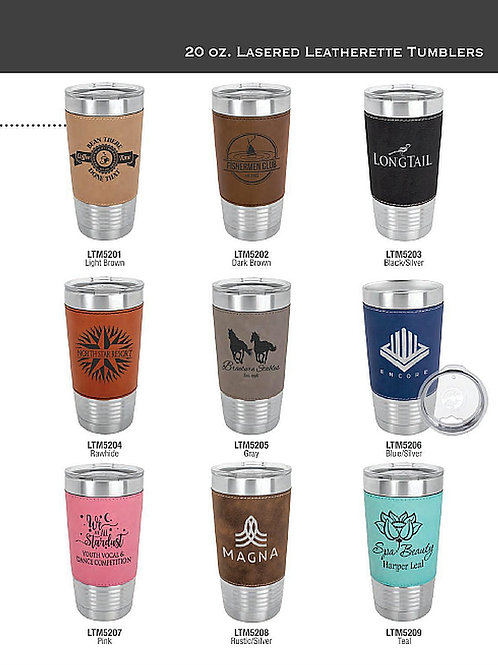 20oz  Polar Camel Leather Tumbler