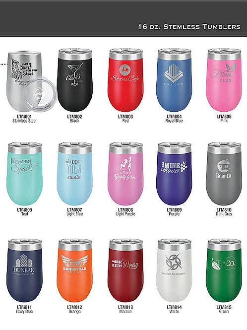 16oz Stemless Tumblers