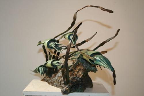 sculpteur-animalier-bernard-frigiere-bronze-banc-de-calamars.jpg