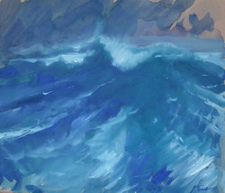 FL 034    La vague du large 45 x 38,5