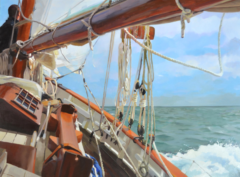 ©RocheGardies  Cap sur Granville à bord de la grande hermine, huil (1) - Copie.