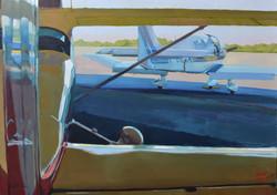 ©RocheGardies.avion.peinture. Un après midi à l¹Aéroclub » 50x70cm.JPG