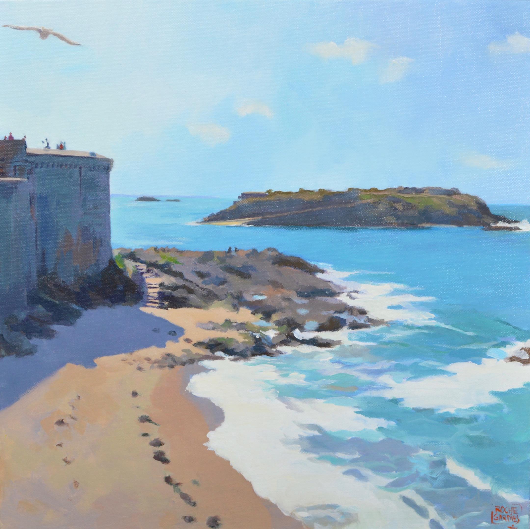 -®RocheGardies_peintre_Saint_Malo_vue_sur__le_grand_B+®__Acrylique_sur_toile_50x50cm-