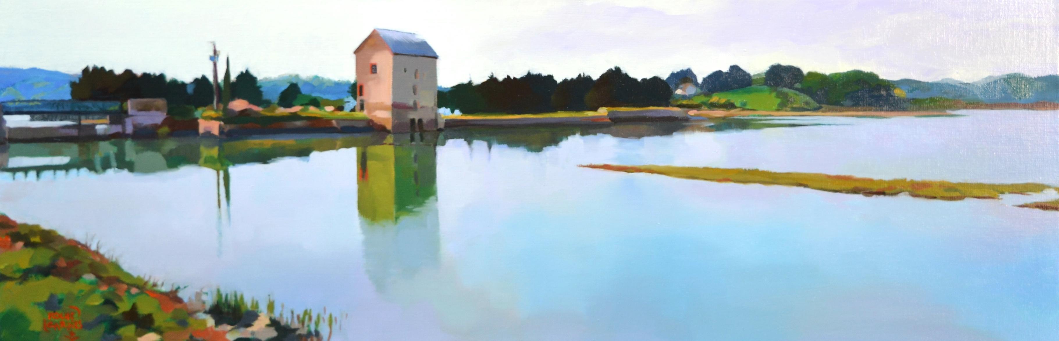 ©RocheGardies Moulin  à marée de Beauchet, huile sur toile 30x90cm (3).JPG