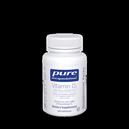 Vitamin D by Pure Encapsulations, 5000iui, 120caps