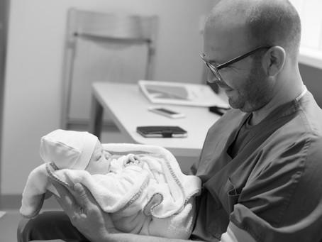 Geboortefotografie,Papa verteld