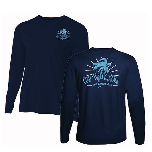 (Youth / Kid ) Cow Wreck Beach Kids Long Sleeve  44+ SPF UV Sun Shirts