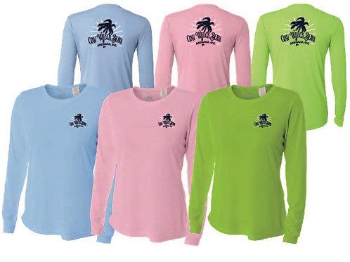 Women Cow Wreck Beach Long Sleeve  UV Sun Shirts