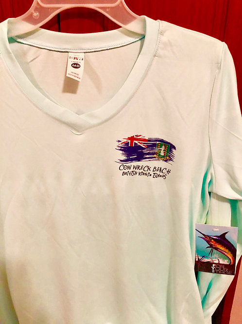 Sprit of BVI Ladies V-Neck Long Sleeves UV