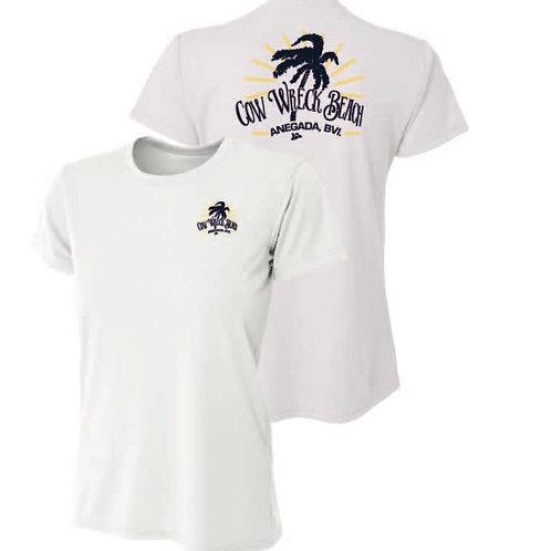 Women Cow Wreck Beach Short Sleeve  UV Sun Shirts